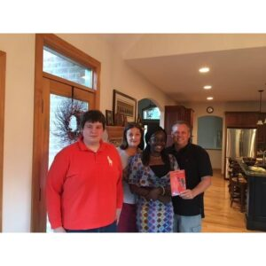 I was adopted by this US family after reading a copy of my book