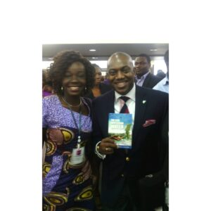 Me and Fela Durotoye and his copy of my book
